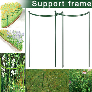 2 Pcs Flower Plant Support Stakes Semi Circular Metal Frame Professional for Garden L9 #2|Fencing  Trellis & Gates|Home & Garden -