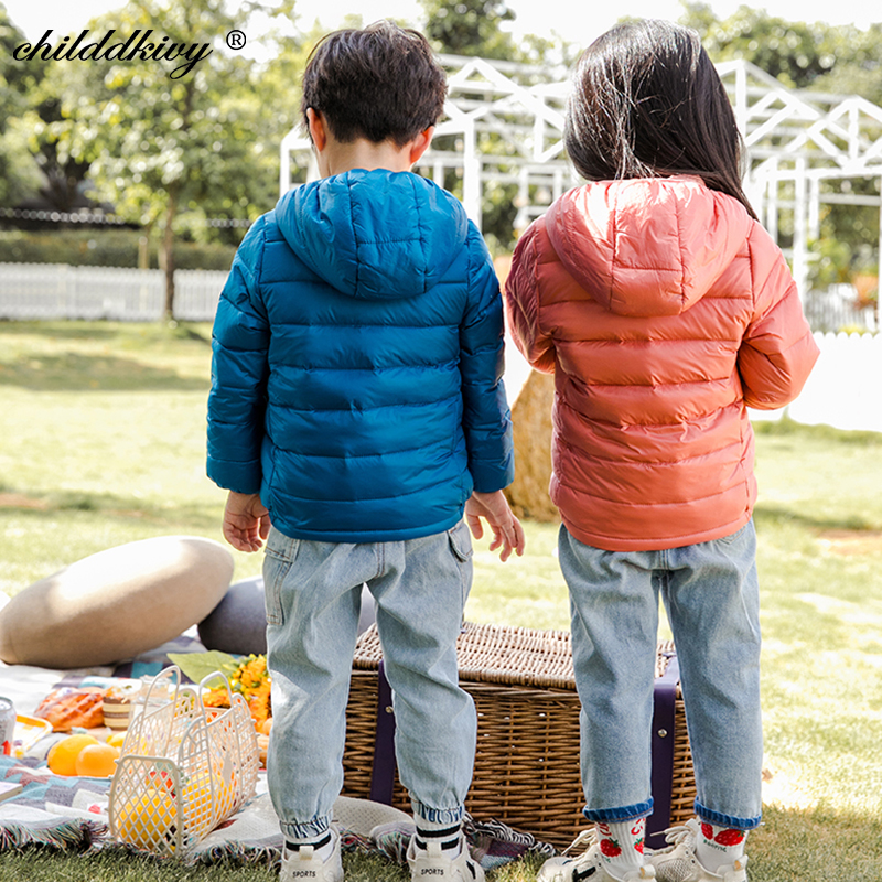 2021 Children winter jacket Ultra light down Baby Girls Jackets Kids Hooded Outerwear Coat boys snowsuit Children Clothing 2-8 y 5