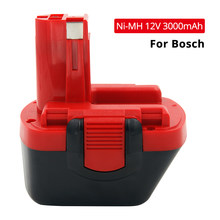 12V Ni-MH 3000mAh 3.0 Ah Rechargeable Battery for Bosch 12V Drills BTA120 22612 23612 3360 3455 PSR 12VE cordless power tools(China)
