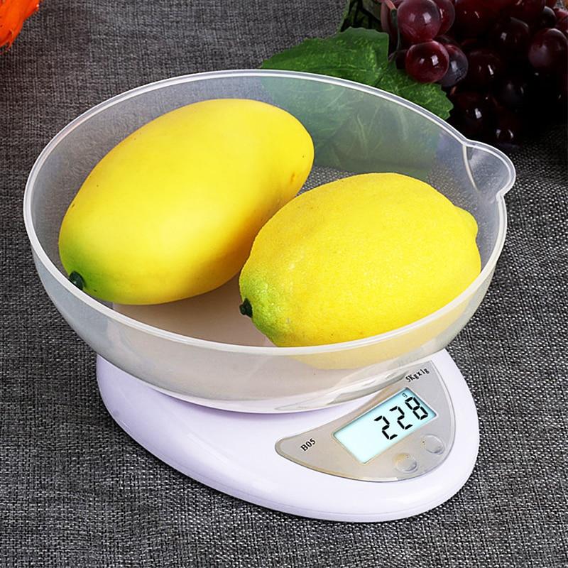 5kg/1g דיגיטלי נייד LED אלקטרוני סולמות דואר מזון איזון מדידת משקל מטבח LED מאזניים אלקטרוניים