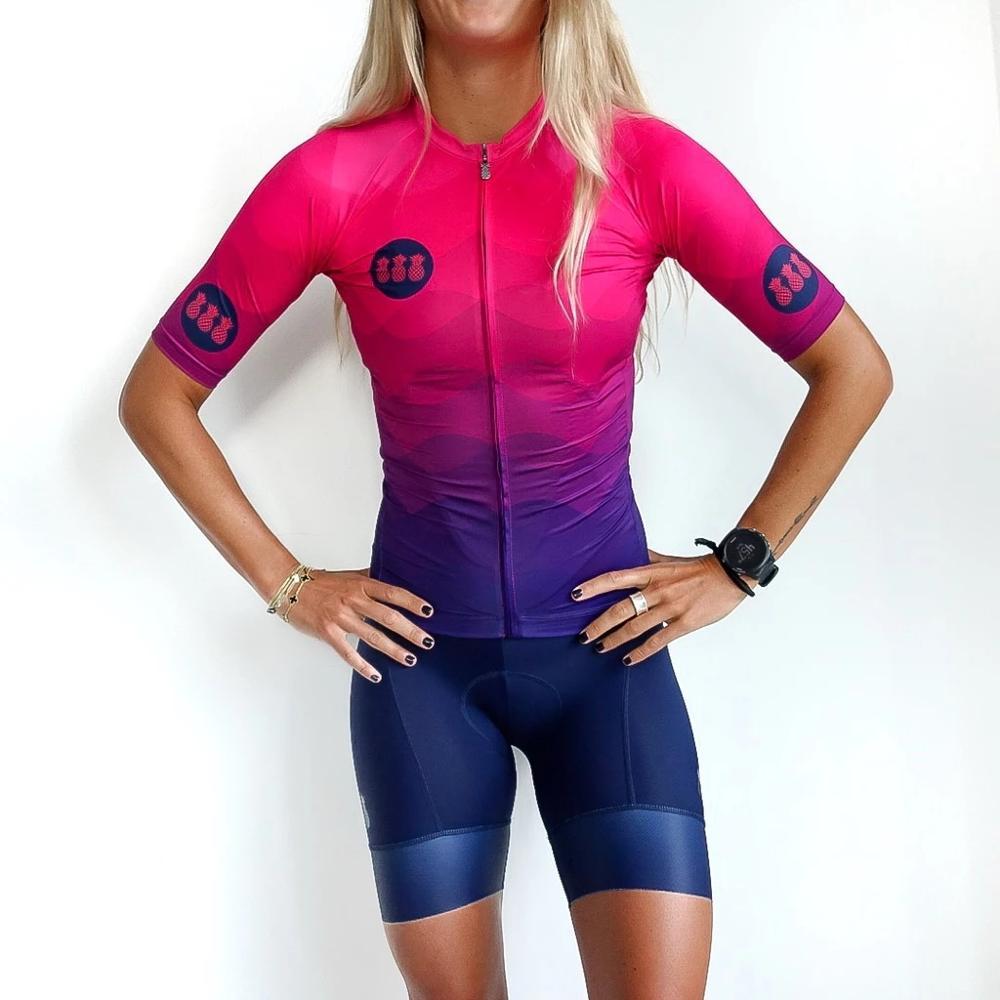 Triathlon TRES PINAWomen Custom Bike Skinsuit One-piece Girls Cycling Tri Suit Run Conjunto Ciclismo Speedsuit Outdoor Body Kit