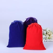 10Pcs Velvet Drawstring Gift Bag Cotton Pouch Jewelry Packaging&Organizer Christmas Wedding Favor Bag Custom Link Jewelry Bag