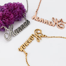 Alphabet necklace pendant custom name choker necklace gold Stainless steel necklace gold bling personalized couple jewelry(China)