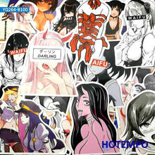 Autocollants filles Manga 100 ordinateur portable et téléphone portable, étiquettes pour jouet, dessin animé, Style bien être, dessin animé, à faire soi même, fixation rétractable et mécanisme dattache de sécurité pièces