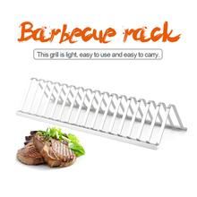 Outdoor Rib Rack High Quality Non-Stick Stainless Steel BBQ Tools Steak Holders Grill Stand Roasting Kitchen