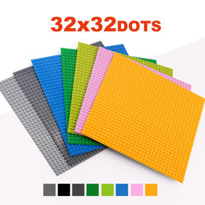 32*32 Dots Classic Base Plates Compatible LegoINGlys Baseplates City Dimensions Building Blocks Construction Toys For Children