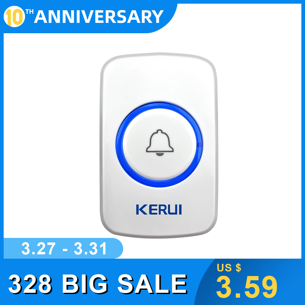 KERUI F52 Waterproof Wireless Touch Doorbell Button F51Smart Receiver Home Gate Security Doorbell Panic SOS Emergency Button