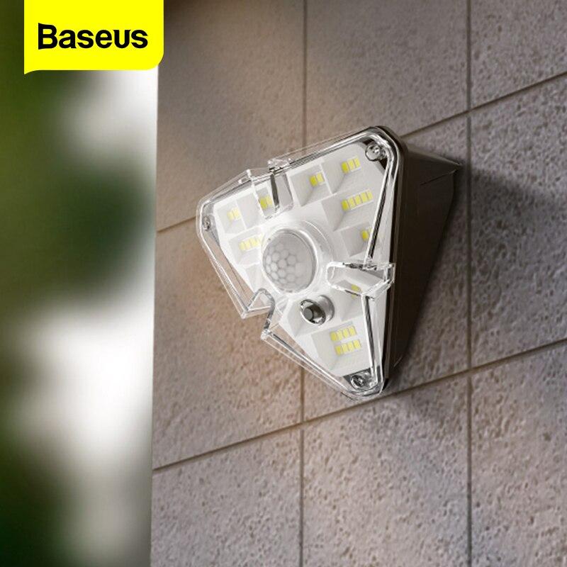 Baseus Solar Licht Im Freien Wasserdichte FÜHRTE Wand Licht Außen Garten Dekoration Lichter PIR Intelligente Motion Sensor Nacht Lampe