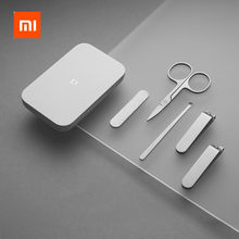 XIAOMI Mijia 5Pcs Tragbare Fingernagel Zehennagel Maniküre Pediküre Magnetische Absorption Edelstahl Nagel Clipper Set