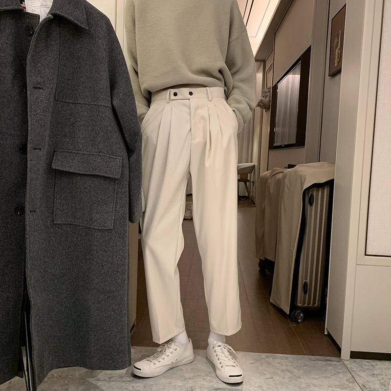 Hualun Autumn And Winter Pendant Drape Loose-Fit Straight-leg Pants No Ironing Tr Casual Pants Korean-style Fashion Draping Cutt