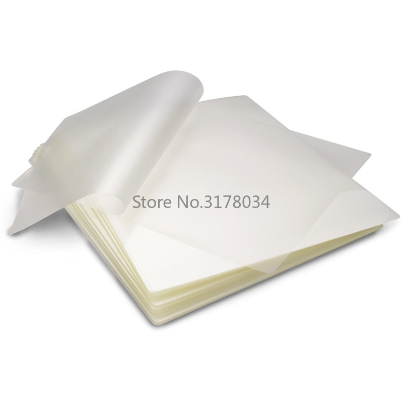 50PCS/lot A4 Thermal Laminating Film PET Plastic Laminator Sheets For Photo Files Card Picture Lamination 50 Mic