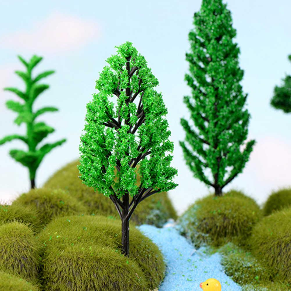 Mini Planta Artificial modelo de árbol terrarios paisaje arena bonsái de mesa Decoración