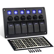 6 клавиш 12 24 В тумблер клавишный переключатель панель автоматический