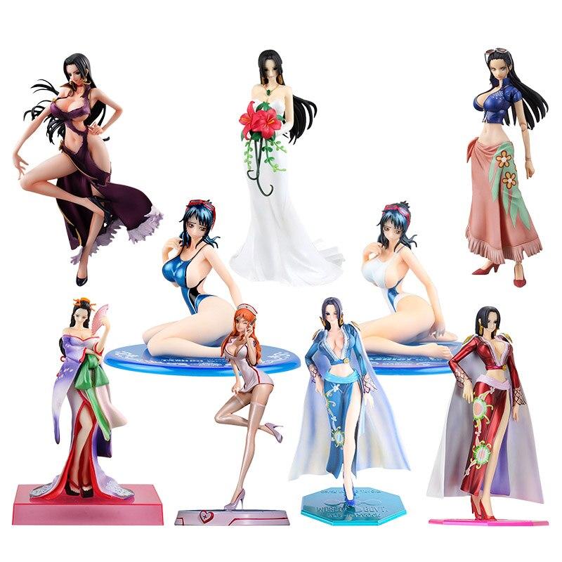One Piece Figure Nami Toy POP Boa Hancock Nico·Robin Tashigi Action Figure Collectible Model Christmas Gift Toy