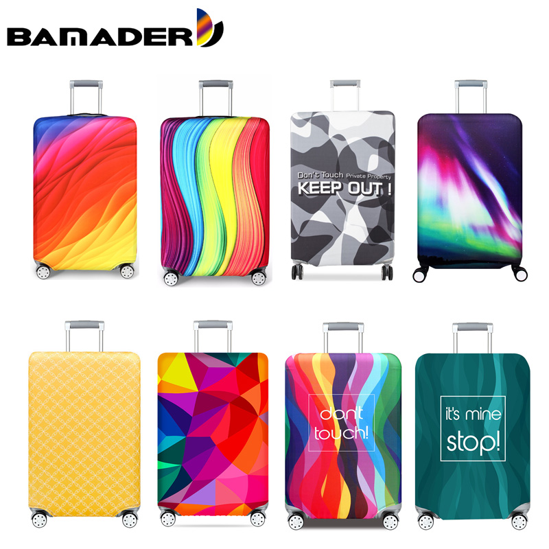 BAMADER Elastic Thickening Suitcase Dust Cover 18-32 Trolley Case Wear Resistant Protective Cover Travel Accessories Trunk Lid