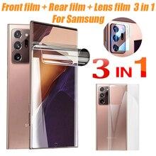 3in1 hydrożel Film do Samsung Galaxy S10 S20 Ultra Plus A51 ochraniacz ekranu E 4G 5G S9 S8 uwaga 20 10 9 8 M 31 21 50 70 80 90