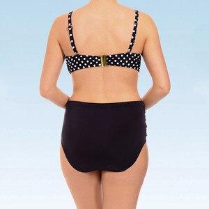 Женский купальник, бикини большого размера с принтом, с подкладкой, с раздельным боди, пляжная одежда, S-5XL, 2020