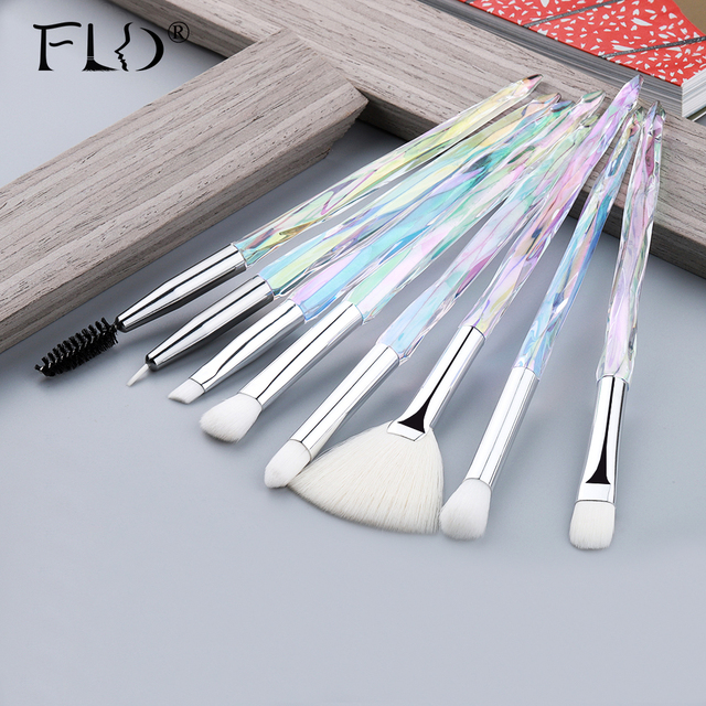 FLD  Eye Brush  Diamond Makeup brushes Set Professional Crystal Eye Shadow Lip Eyebrow Brushes High Quality Lip Eyeliner Tools 1