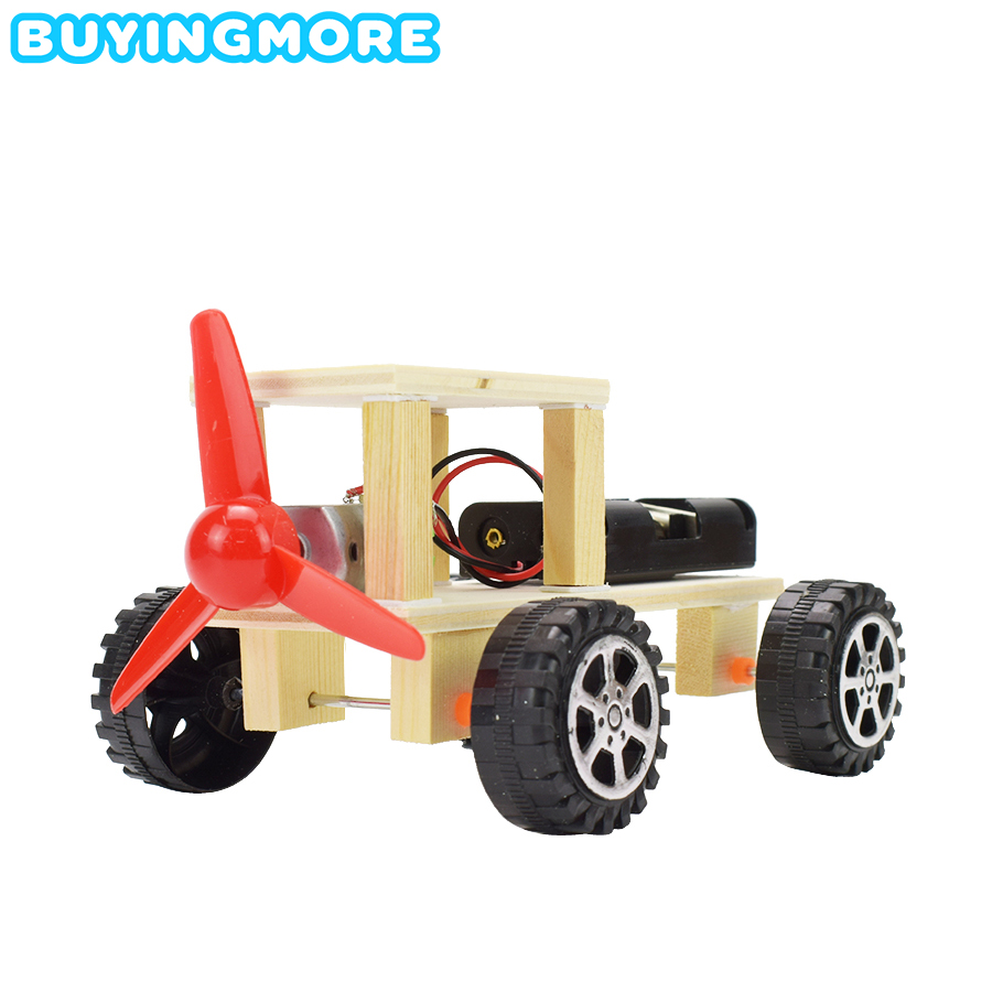 Electric Jeep Model Kit Toys For Children Exploring Science Education Child Experiment Physics Toy Handmade DIY Gifts For Kids