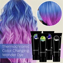 Hair Wax Styling Thermochromic Color Hair Dye Color Paint Changing Wonder Dyes Hair Dyes Multicolor Hair Pigment Pastels Salon
