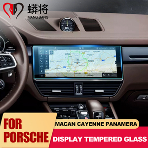 Image 2 - Navigation GPS Display Screen Tempered Glass Protective Film Protector for Porsche Panamera Cayenne Macan 2010 2019 0.3mm Thin