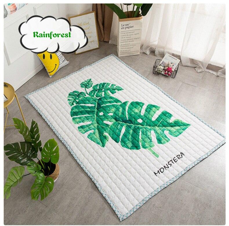 INS anti-dérapant bébé tapis de jeu tapis enfant en bas âge enfants tapis doux pour la peau jouets pour enfants pratique chambre de bébé décor.