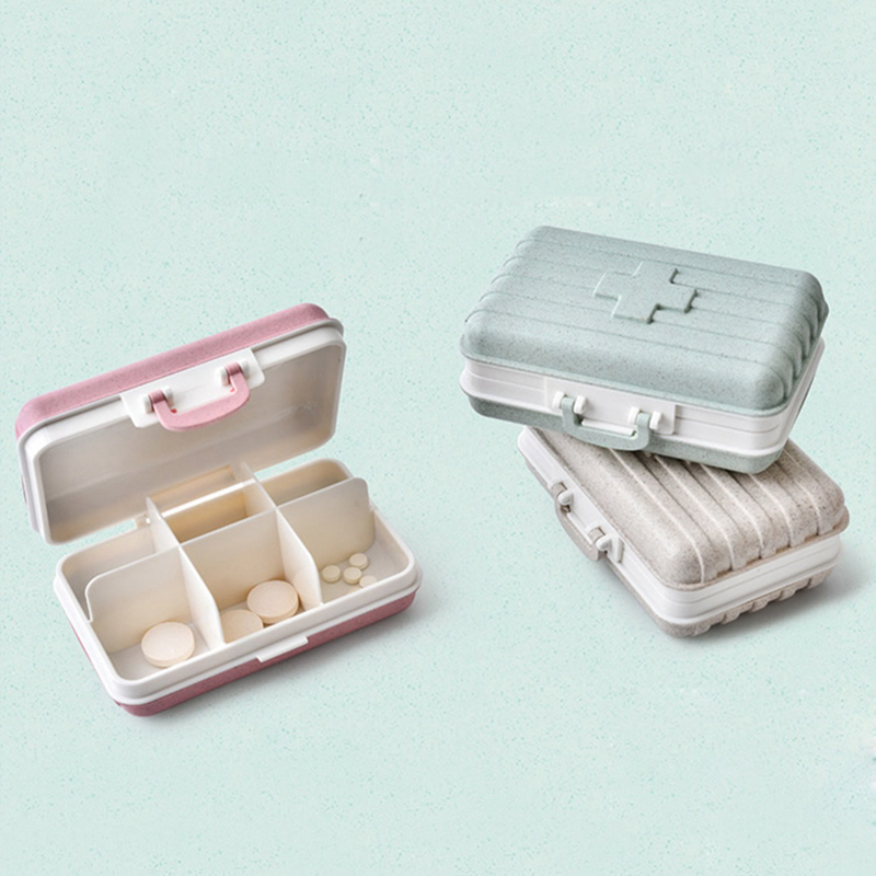 Fashion Travel Suitcase Medicine Storage Bag Mini Package Portable Suitcase Case Holder Pouch Function Parts Travel Accessories