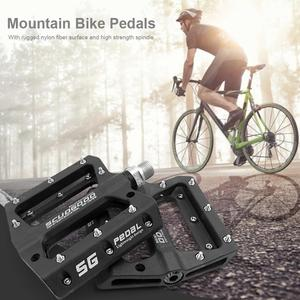 Image 2 - Ultra light rockbros pedaMountain Bike Bicycle Pedals Nylon Fiber 4 Colors Big Foot Road Bike Bearing Pedals Bicycle Bike Parts