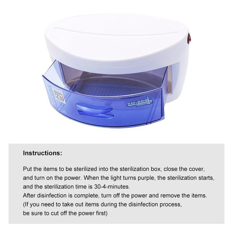 220V EU Plug UV Sterilizer Disinfection Cabinet Ultraviolet Light Sterilization Manicure Tools Household UV Sterilizezation Box 5