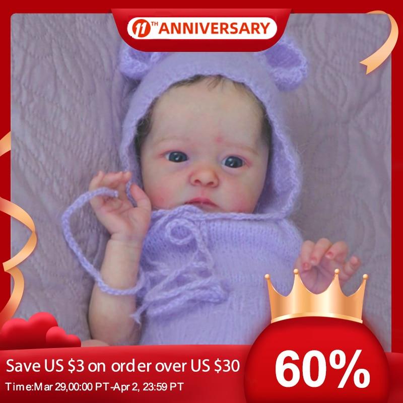 RSG Reborn Baby Puppe 18 Zoll Lebensechte Newborn Baby Tink Vinyl Unlackiert Unfinished Puppe Teile DIY Blank Puppe Kit