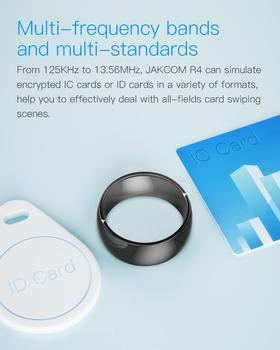 New Jakcom R4 waterproof high speed NFC ID IC Card Input Smart Ring Electronics support IOS android wp phone small magic ring