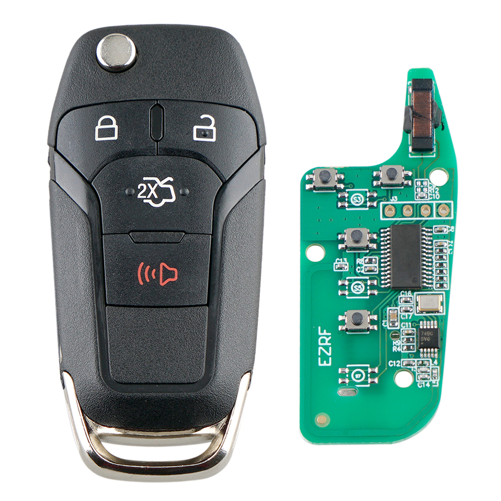 315MHz 4 Buttons Remote Flip <font><b>Key</b></font> Fob with Chip N5F-A08TAA Auto Car Replacement Fit for <font><b>Ford</b></font> <font><b>Fusion</b></font> 2013 2014 <font><b>2015</b></font> 2016 image