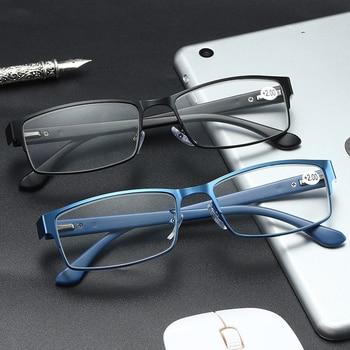 Zilead Men Spring legs Retro Presbyopic Eyeglasses Anti Fatigue For Parents Unbreakable Classical Reading Glasses Comfortable