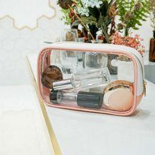 PVC Transparent Cosmetic Bag Travel Organizer Zipper Clear Waterproof Women Makeup