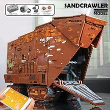 MOC 13168pcs Creator Building Blocks RC The Cavegod UCS Sandcrawler Model Sets Assemble Bricks Kids Educational DIY Toys Gift