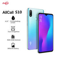 Version mondiale Allcall S10 Android 9.0 Octa Core 6.22 'HD Plus + Waterdrop 16MP + 5MP caméra 3800mAh 4GB RAM 4G Smartphone celulaire