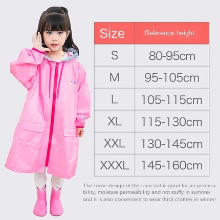 Pink Waterproof Rain Poncho Outdoor Raincoat Kids Space for Schoolbag Children Boy's Yellow Rain Coat Cover Hiking Impermeable 5