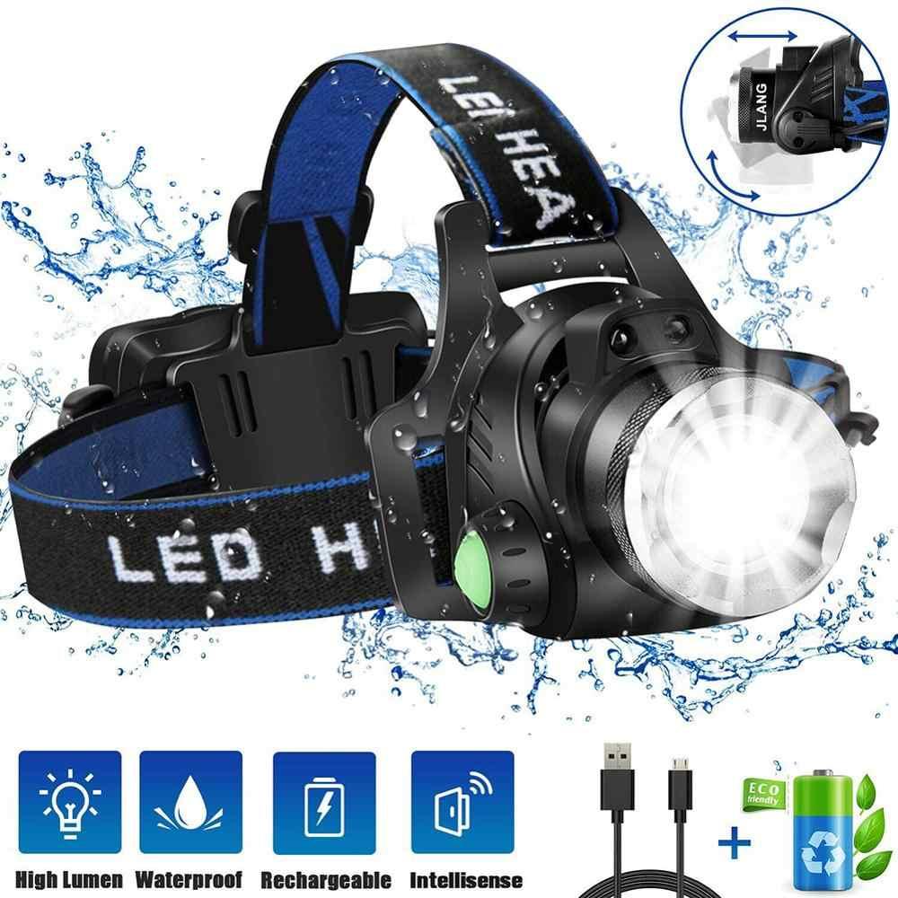 Lampe Poche Rechargeable Phare Tête Lampe Torche T6 LED Mains Libres de Camping