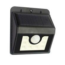8 LED Solar Power PIR Motion Sensor Wall Light Outdoor Garden Waterproof Lamp Drop shipping