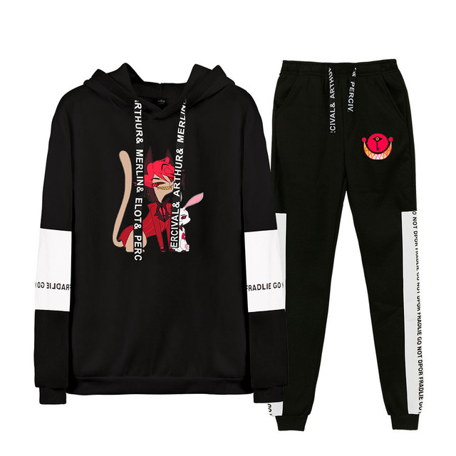 SET HAZBIN HOTEL THEMED HOODIE + TROUSERS (20 VARIAN)
