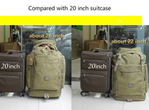 Image 2 - Large capacity retro canvas sturdy big backpack Double shoulder travel bag male big backpacks luggage bag