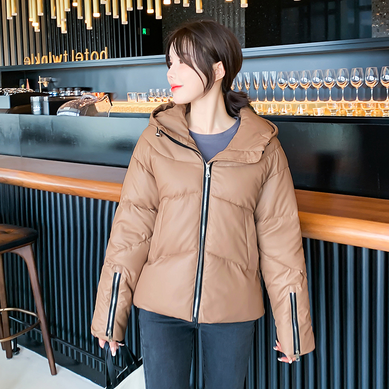 2021 Winter Casual Solid Women Puff Jacket Plus Size Loose Hooded Warm Coat for Female Cotton Padded Ladies Zipper Down Jackets