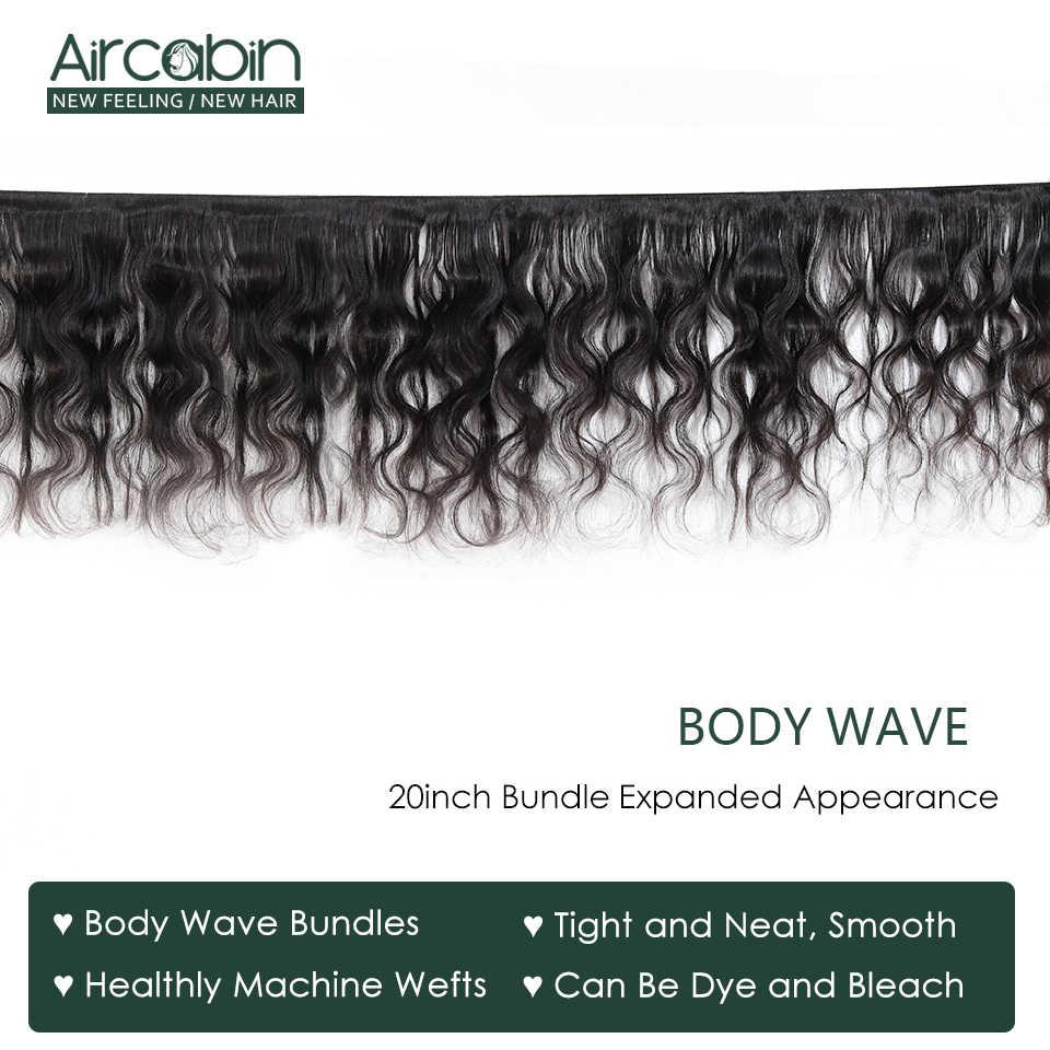 Aircabin brasileiro onda do corpo cabelo tecer pacotes de cor natural grosso 1/3/4 pacotes 100% remy extensões do cabelo humano pode ser tingido