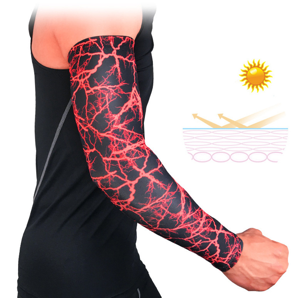 Free Shipping 2019 New Hot Fashion 1PC Arm Sleeves Breathable Anti-slip Cuffs UV Protection Compression Sun Sleeves Purchasing