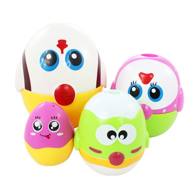 Brinquedos educativos ovo que nivela bonecas para a criança, aprendizagem pré escolar que empilham brinquedos para meninas do bebê e meninos - 5