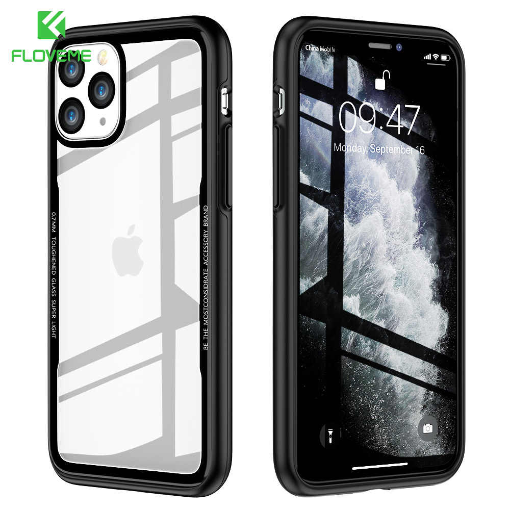 Fundas FLOVEME para iPhone 11 funda transparente para iPhone 11 Pro Max Protector de pantalla para iPhone 7 8 Plus X XR XS Max funda iphone xr funda iphone 11 iphone xr case