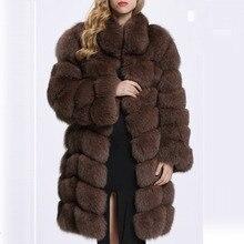 Faux Fur Coat Long Korean White Black Brown Winter Fur Coat Ladies Winter Coat Women Winter Jacket Warm Fashion Female Coats 05
