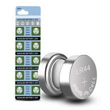 Baterias alcalinas ag 13 357 v do botão da bateria lr44 1.5 357a s76e g13 da pilha da moeda de ag13 do bloco 10 pces/1 para o controle remoto eletrônico do relógio