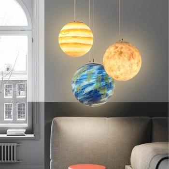Nowoczesny układ słoneczny 3d wisiorek światło 8 Planet wisiorek lampa wisząca księżyc słońce ziemia Mars uran Mercury Planet oprawa oświetleniowa strona główna tanie i dobre opinie Dxu Tou CN (pochodzenie) ROHS Z certyfikatem VDE Kute Parlor do nauki Główna sypialnia Do innych sypialni Hol hotelowy