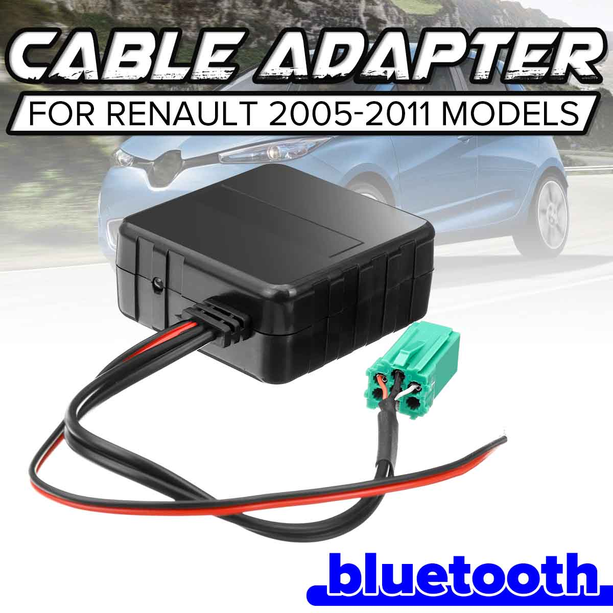 Car Bluetooth Module Aux Receiver Cable Wireless Music Player For Renault CD Host Machine 2005-2011 Models HIFI Radio Media